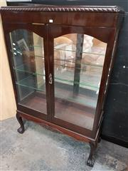 Sale 8724 - Lot 1005 - Elevated Glass Front Display Cab