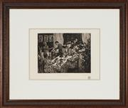 Sale 8767 - Lot 2061 - Angela Gill - Tea and Sympathy 67 x 78.5cm (frame size)