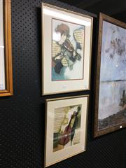 Sale 8759 - Lot 2066 - 2 Works: Framed Musical Themed Works on Paper -