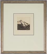 Sale 8892 - Lot 600 - Bruce Rowland (1946 - ) - The Oriental Rug (Reclining Nude) 11 x 11 cm