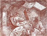 Sale 8976A - Lot 5039 - Donald Friend (1915 - 1989) - Chez D.F 22.5 x 30 cm (frame: 50 x 53 x 3 cm)