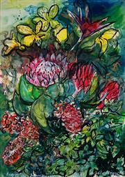 Sale 8990 - Lot 2060 - Angela Meyer (1970 - ) - Temporal Vivace Vibrations - Flowers, 1992 103 x 74 cm (frame: 117 x 86 x 4 cm)