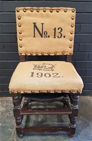 Sale 8979 - Lot 1060 - French Inspired Bedroom Chair with Hessian Upholstery (H:90 W:47cm)