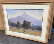 Sale 9011 - Lot 2055 - Ray Warsop Mount Warning pastel on paper, 69 x 89cm (frame)