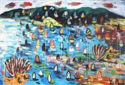 Sale 9047 - Lot 517 - Yosi Messiah (1964 - ) - Racing White Harbour 122 x 178 cm