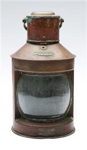 Sale 9090 - Lot 76 - Copper lantern (H:32cm)