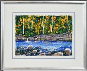Sale 8347A - Lot 82 - Greg Mallyon (1954 - ) (2 works) - Erskine River, Lorne; Stony Creek 46 x 67cm, each