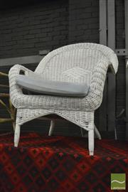 Sale 8390 - Lot 1620 - Wicker Armchair with Cushion