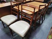 Sale 8451 - Lot 1039 - McIntosh teak table and set of 6 chairs