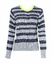 Sale 8493A - Lot 57 - A Gasparre cashmere blend textured cardigan with lime, size S