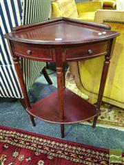 Sale 8545 - Lot 1020 - Tiered Timber Corner Stand