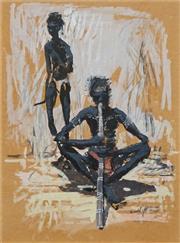 Sale 8683 - Lot 563 - Clifton Pugh (1924 - 1990) - Musician 37.5 x 27.5cm