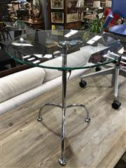 Sale 8787 - Lot 1084 - Glass Top Height Adjustable Side Table