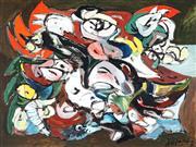Sale 9047 - Lot 551 - Paul Haefliger (1914 - 1982) - Capricho II, 1980 88.5 x 118.5 cm (frame: 100 x 130 x 4 cm)