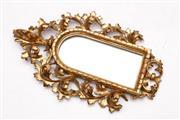 Sale 9052 - Lot 146 - An Ornate Gilt Frame Mirror (40cm X 23cm)