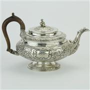 Sale 8372 - Lot 44 - English Hallmarked Sterling Silver George III Teapot