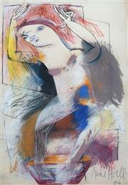 Sale 8410A - Lot 5011 - Anne Hall (1945 - ) - Untitled, 1966 (Resting Nude) 101.5 x 70.5cm (sheet size)