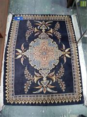 Sale 8601 - Lot 1557 - Blue Tone Hand Knotted Woollen Door Mat (99 x 78cm)