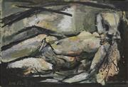 Sale 8708A - Lot 523 - Carl Plate (1909 - 1977) - Reclined Nude, 1955 32 x 45cm