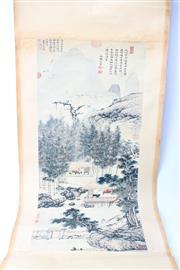 Sale 8739C - Lot 82 - Set Of Three Chinese Scrolls Incl Village Scene