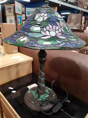 Sale 8744 - Lot 1098 - Leadlight Shade Table Lamps x 2