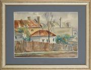 Sale 8891 - Lot 2023 - William Coffey - Bank Lane, North Sydney, 1973 26 x 36 cm