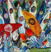 Sale 9002A - Lot 5043 - Evan Mackley (1940 - 2019) - Windsurfers 20 x 20 cm