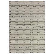 Sale 9082C - Lot 36 - India Nomad Moroc Design, 160x230cm, Natural Wool