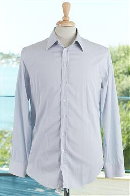 Sale 9120K - Lot 78 - A Giorgio Armani cotton striped button up long sleeve shirt size mens ITA39/15.5
