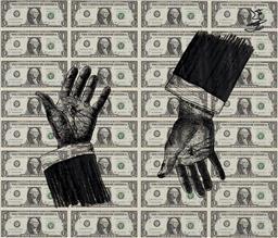 Sale 9174JM - Lot 5064 - BEEJOIR Study for Crux black on uncut dollar bills 53 x 61.5 cm (frame: 71 x 80 x 3 cm) signed and dated upper right