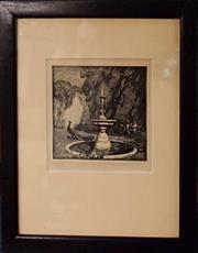 Sale 8320 - Lot 727 - Lionel Lindsay wood block engraving