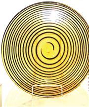 Sale 8402B - Lot 76 - Murano Art Glass Atolli Plate, signed