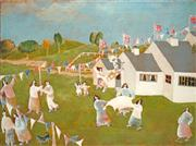 Sale 8484 - Lot 517 - Harry Bilson (1948 - ) - Untitled (Village Festival) 46 x 61cm