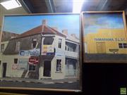 Sale 8557 - Lot 2025 - Framed Tamarama S.L.S.C Painting & Doms Corner Store Painting (2)