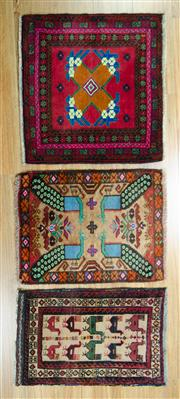 Sale 8653C - Lot 87 - 3 x Persian Door Mats 40cm x 50cm