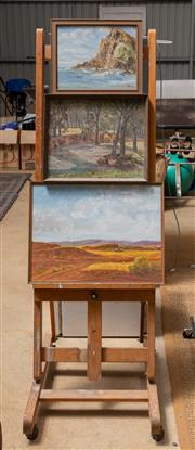 Sale 8677A - Lot 88 - An artists easel, together with three works by A. G. Bradley