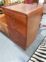 Sale 8745 - Lot 1078 - Timber Two Drawer Filing Cabinet