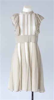 Sale 8800F - Lot 32 - A Paul & Joe Paris silk panelled midi dress with softly fluted hem, size EU 36
