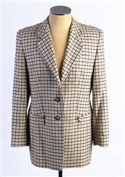 Sale 8926H - Lot 1 - A BASLER chequered blazer with zip up pockets to front, size 46