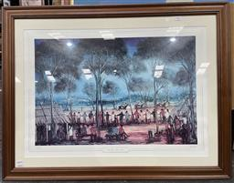 Sale 9139 - Lot 2062 - Pro Hart The Three Horse Race, photolithograph, ed. 43/1500, frame: 75 x 97 cm, signed -