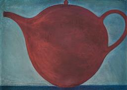 Sale 9161 - Lot 550 - HELEN WRIGHT (1956 - ) Red Teapot, 1996 pastel on paper 76 x 107 cm (frame: 89 x 120 x 3 cm) unsigned, provenance: Dick Bett Gallery