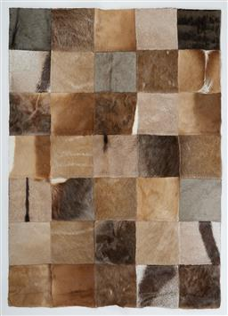 Sale 9199J - Lot 92 - An African multi hide rug, 140cm x102cm