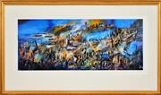 Sale 8323A - Lot 12 - Kevin Charles (Pro) Hart (1928 - 2006) - Gallipoli 37 x 92cm