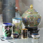 Sale 8362 - Lot 91 - Cloisonne Lidded Jar with Cloisonne
