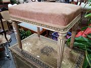 Sale 8769 - Lot 1036 - Gilt Frame Piano Stool