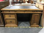 Sale 8777 - Lot 1043 - Timber Desk with Leather Top