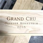 Sale 8825 - Lot 749 - 7x 2015 Olivier Bernstein Limited Edition Grand Cru Mixed Case - 1x Chambertin Clos-de-Bèze, 1x Mazis-Chambertin, 1x Chambertin, 1x...