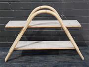 Sale 8962 - Lot 1029 - Retro Cane Two Tier Shelf (H:58 x W:85 x D:20cm)