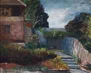 Sale 8976A - Lot 5019 - George Feather Lawrence (1901 - 1981) - Home at Northwood, 1941 30.5 x 37.5 cm (frame: 41 x 48 x 3cm)