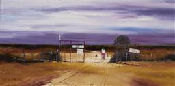 Sale 9081A - Lot 5003 - Colin Parker (1941 - ) - 10 Miles to the Pub 30 x 60 cm (frame: 48 x78 x 3 cm)